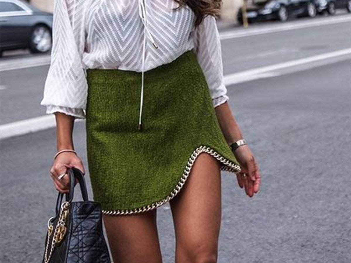 Foto: La falda verde de Zara que no dejan de llevar las expertas. (Instagram @franciscafloress)