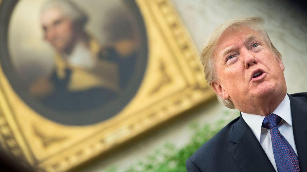 Foto: Donald Trump en el Despacho Oval, el 19 de octubre de 2017. (EFE)
