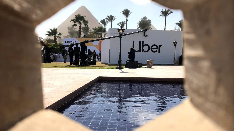Foto: Rueda de prensa de la firma Uber en El Cairo, el 4 de diciembre de 2018. (Reuters)