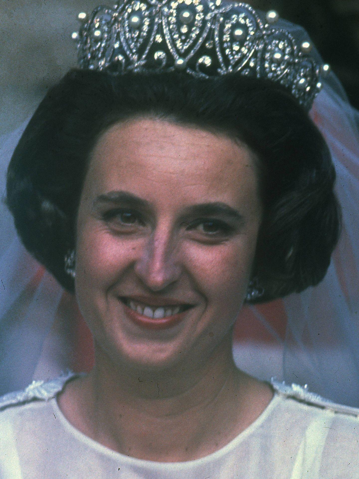 La infanta Pilar de Borbón, el día de su boda. (Cordon Press)