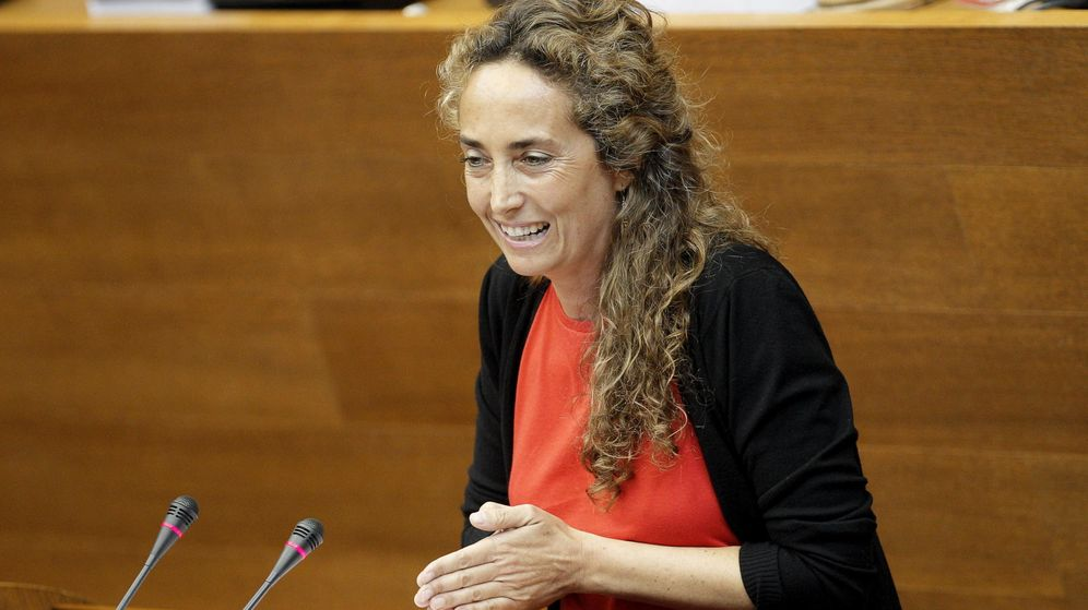 Foto: La portavoz del grupo de Ciudadanos en Les Corts, Carolina Punset, interviene ante el pleno que elige al socialista Ximo Puig president de la Generalitat. (EFE)
