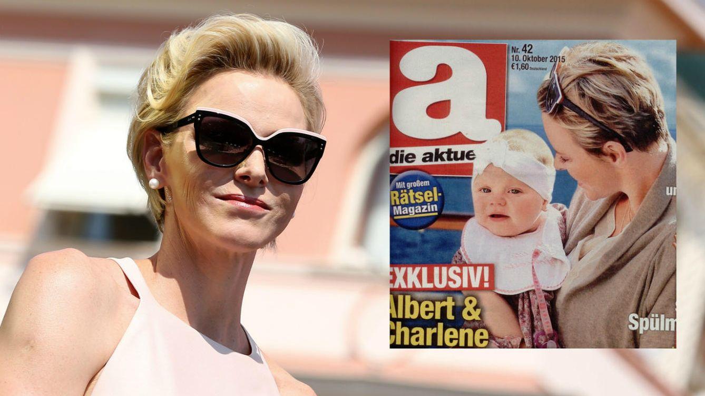 Foto: La princesa de Mónaco y su hija Gabriella en la portada de 'Die Aktualle'