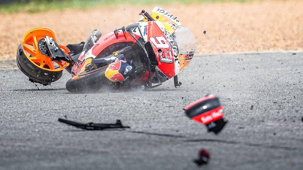 Foto: El accidente de Marc Márquez, en imágenes.