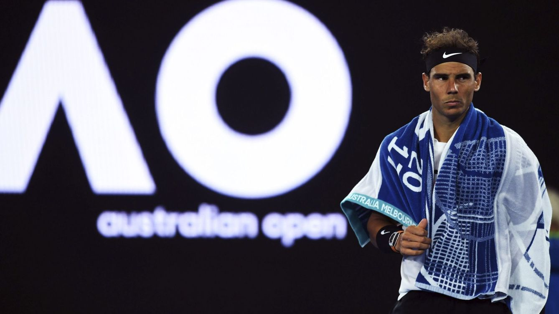 Foto: Rafa Nadal, en el Open de Australia (EFE)