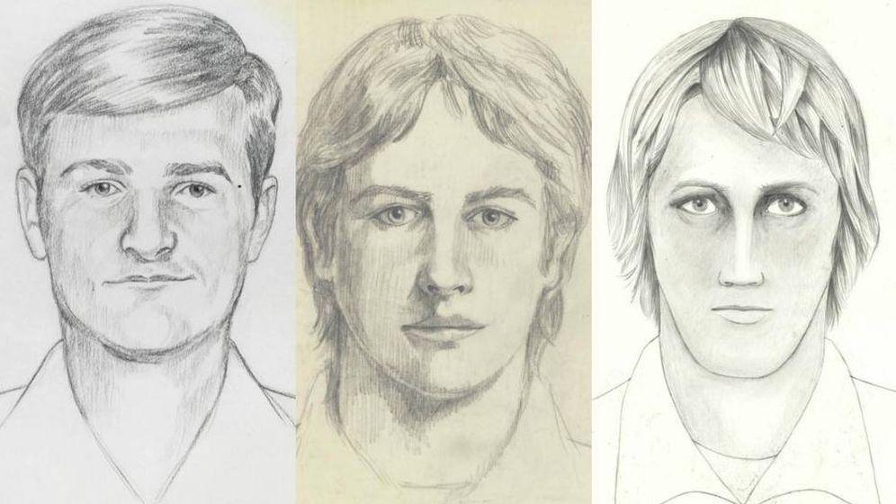 Foto: Los retratos robot del asesino proporcionados por el FBI.