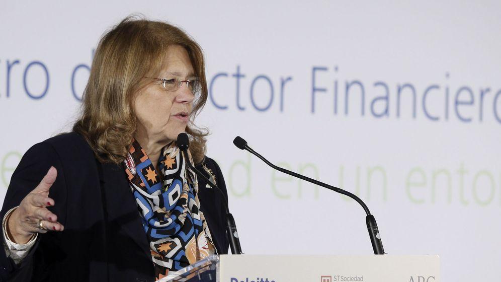 Foto: Elvira Rodríguez, esta mañana en el encuentro financiero de Deloitte (Efe)