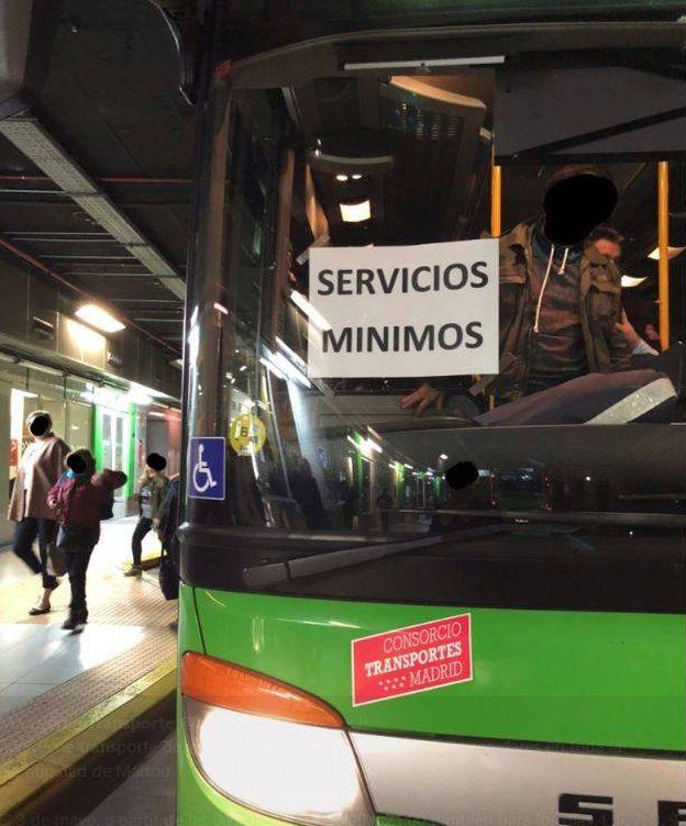 Foto: Huelga de autobuses interurbanos en la comunidad de Madrid | @MadridEnPúblico