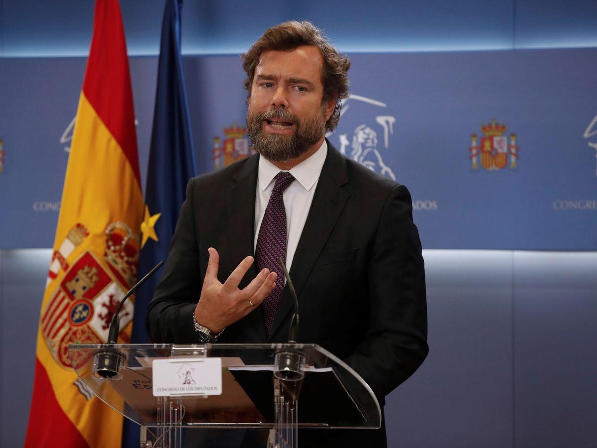 Foto: El portavoz de Vox, Iván Espinosa de los Monteros. (EFE)