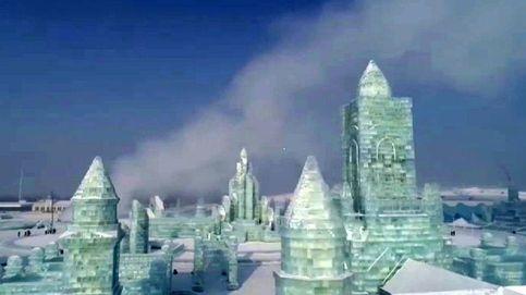 Espectacular ciudad de hielo en el noroeste de China