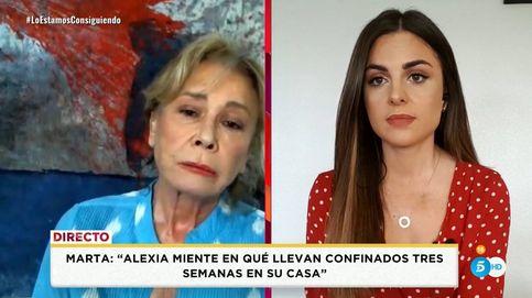 Mila le da un repaso a Alfonso Merlos con Alexia Rivas y Patiño en directo