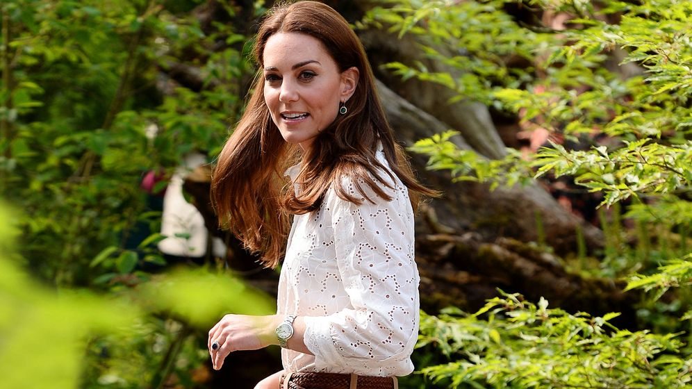 Foto: Kate Middleton con el susodicho look. (Getty)