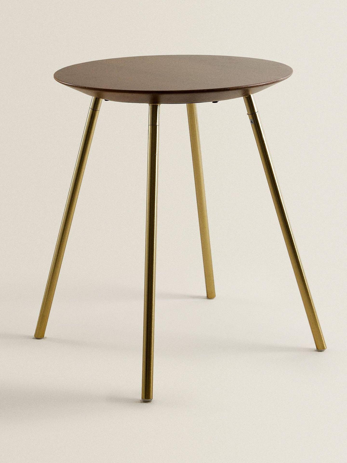 Zara Home tiene esta preciosa mesa redonda. (Cortesía)
