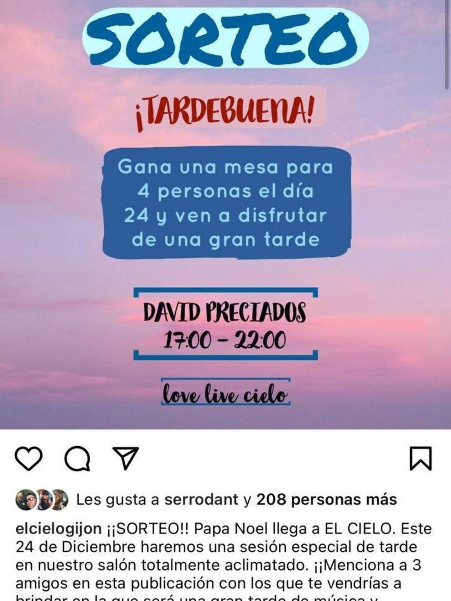 'Flyer' de la 'Tardebuena' en el Bellavista el 24 de diciembre.