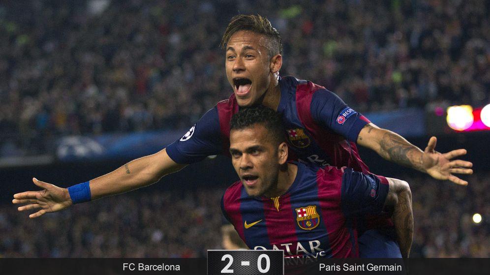 Foto: Un 'doblete' de Neymar basta para aniquilar a un PSG que no fue rival