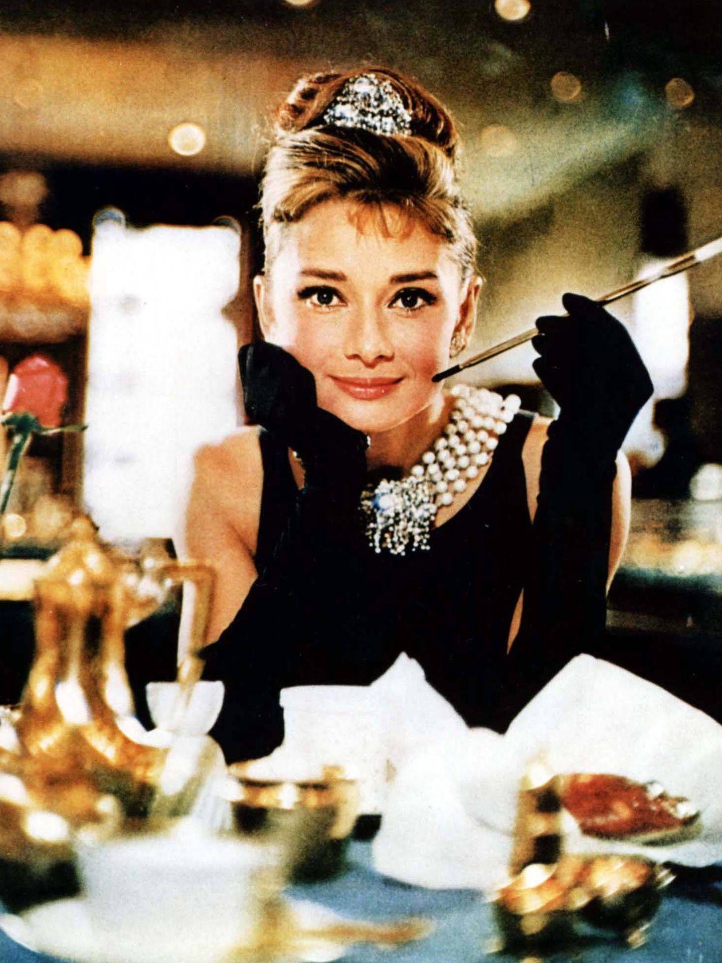 Audrey Hepburn, en la inolvidable 'Desayuno con diamantes'.