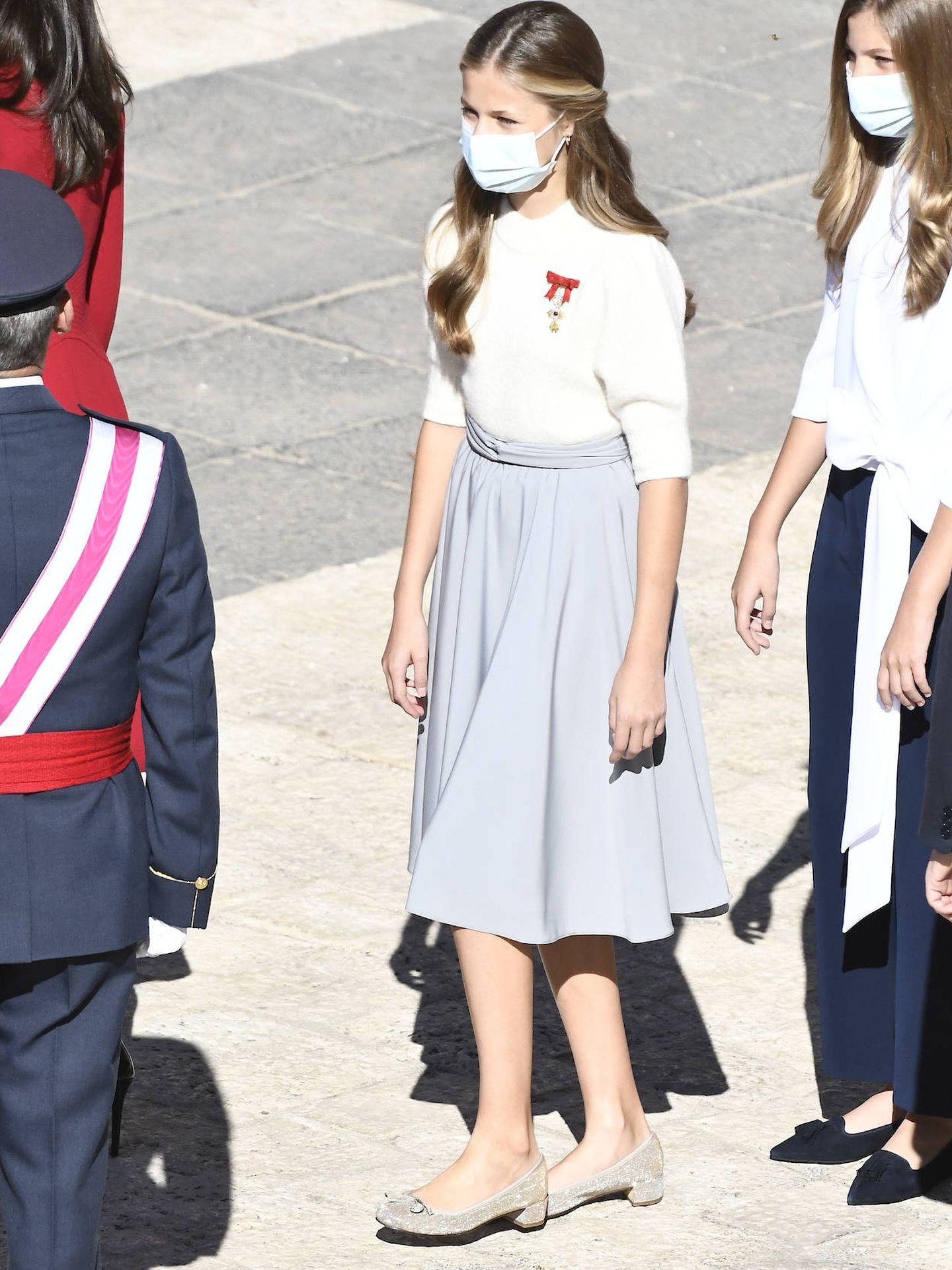 La princesa Leonor, junto a su hermana. (LP)