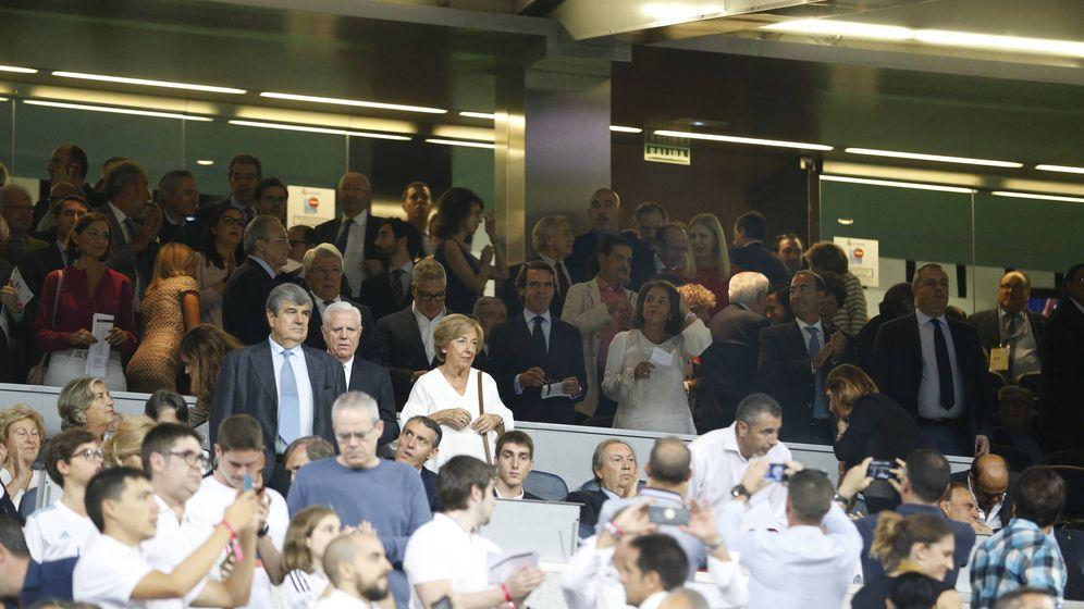 Foto: El palco del Bernabéu, en la noche del derbi. (Baldesca Samper)
