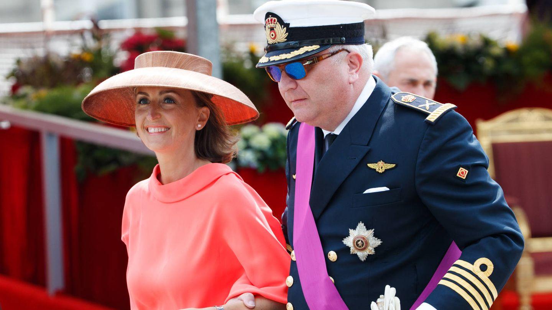 El príncipe Laurent con su esposa, Claire. (Gtres)