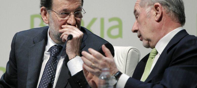 Foto: El expresidente de Bankia, Rodrígo Rato (dcha), junto al presidente del Gobierno, Mariano Rajoy / EFE