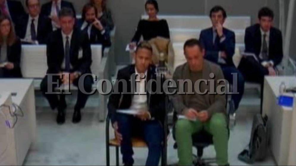 Foto: O vídeo de Neymar perante o juiz.