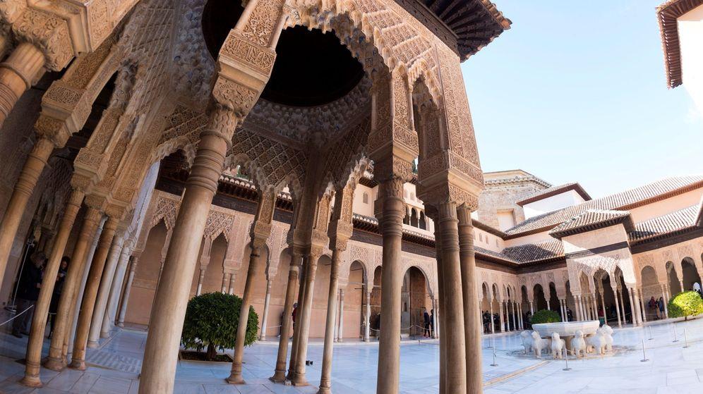 Foto: El Patio de los Leones, dentro de la Alhambra. (EFE)