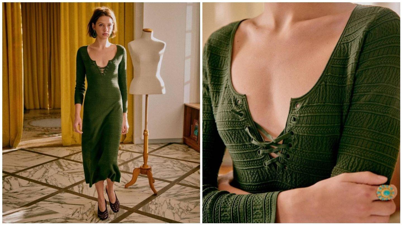 Descubre la firma Sézane a través de este vestido básico. (Cortesía)