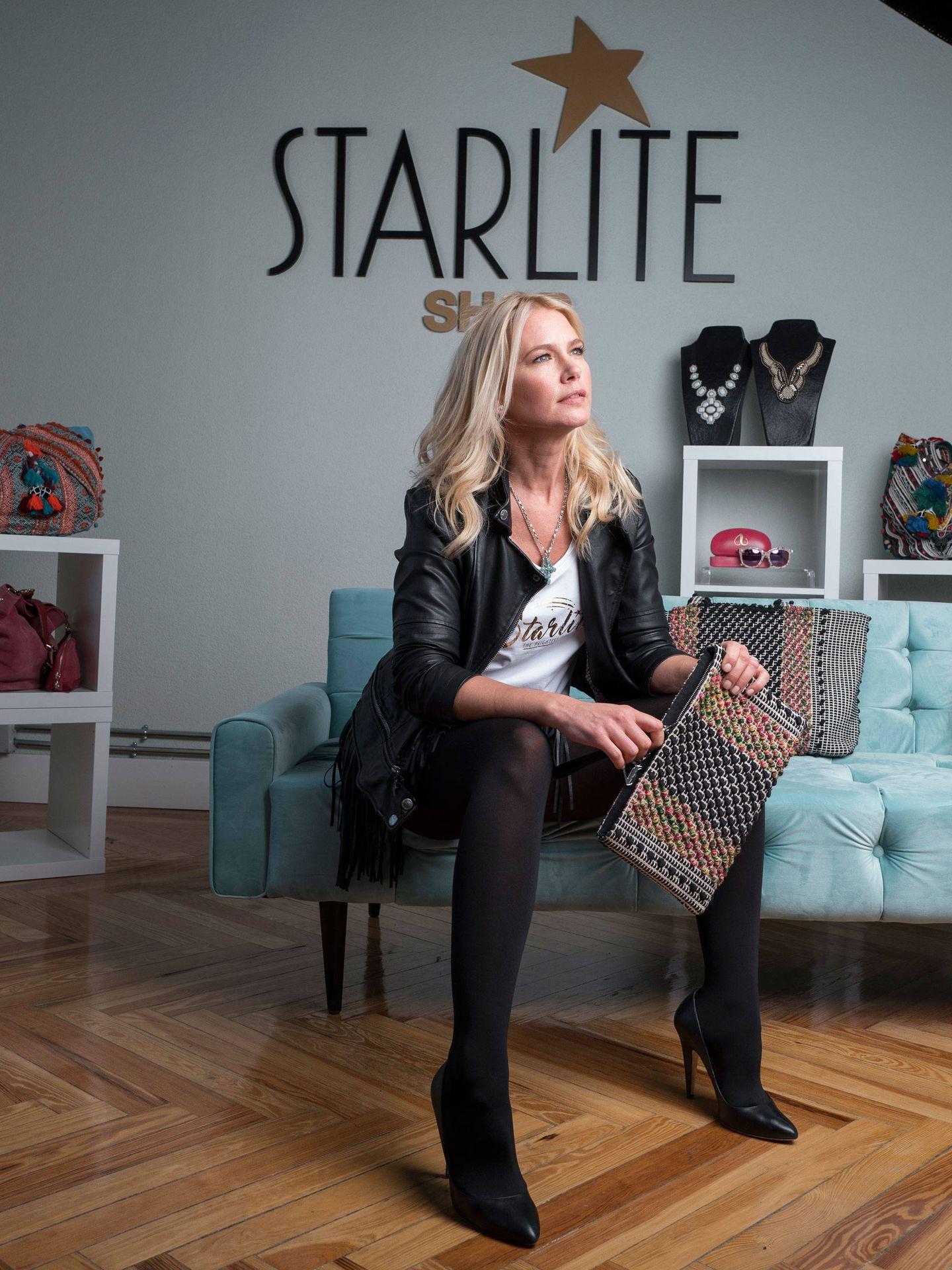 Valeria Mazza en el showroom de Starlite Shop. (Foto: Daniel Sánchez Alonso)