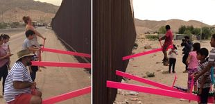 Post de Un balancín para unir lo que una frontera separa: