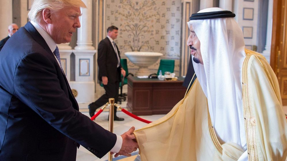 Foto: El presidente estadounidense Donald Trump junto al rey Salman bin Abdulaziz al-Saud, de Arabia Saudí. (EFE)