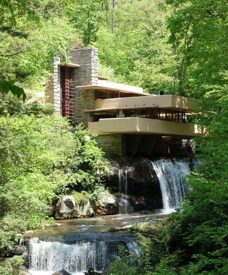 Foto: La Casa de la Cascada, de Frank Lloyd Wright
