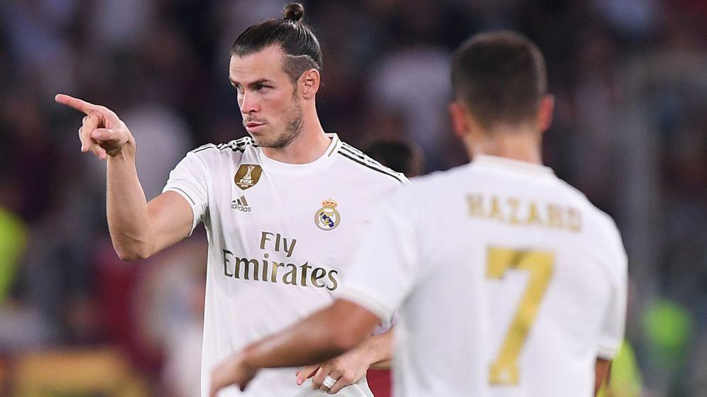 Foto: Bale y Hazard, este domingo en Roma. (Reuters)