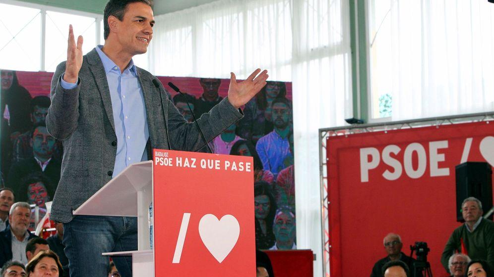 Foto: El presidente del Gobierno, Pedro Sánchez, durante un acto en Badajoz (Efe)