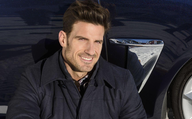 Aitor Ocio en Andorra, en un acto promocional de la firma Jaguar