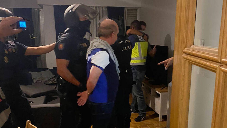 Foto: Detención del Pollo Carvajal. (Policía Nacional)