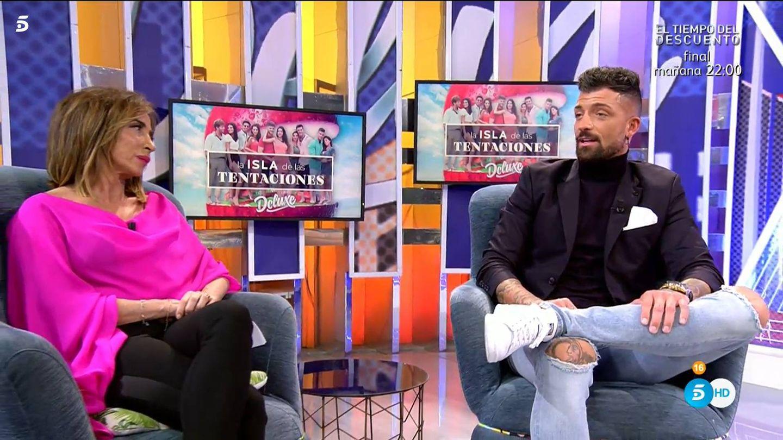 María Patiño y Rubén, en 'Sábado Deluxe'. (Mediaset España)