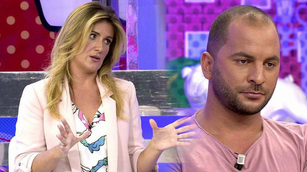 Foto: La regañina de Carlota Corredera a Antonio Tejado en 'Sálvame'. (Telecinco)