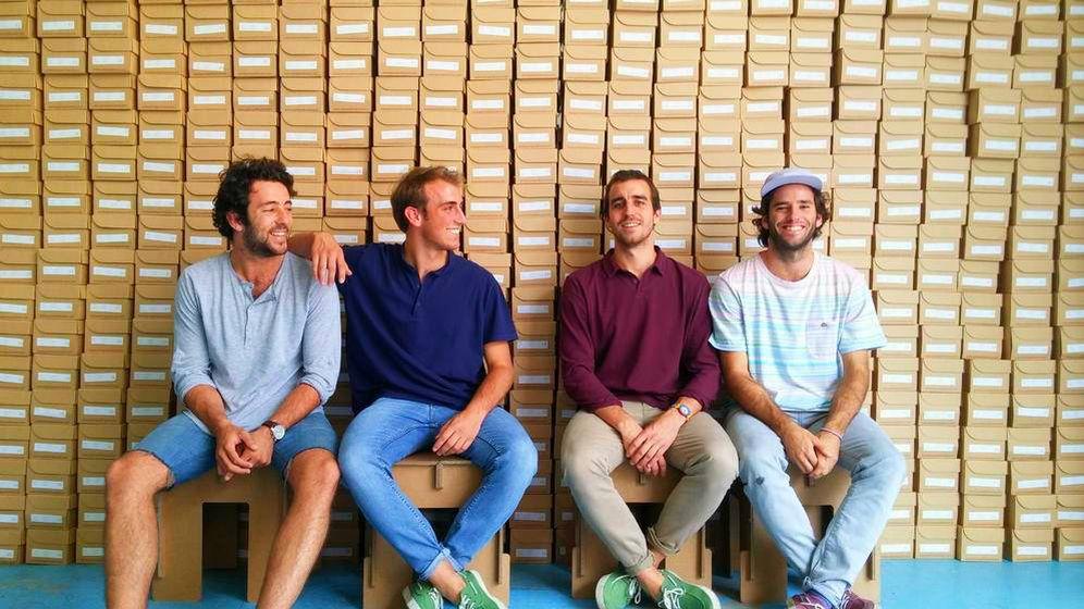 Foto: Los cuatro co-fundadores de Pompeii. De izquierda a derecha, Jaime Garrastazu, Jorge Vidri, Nacho Vidri y Cosme Bergareche.