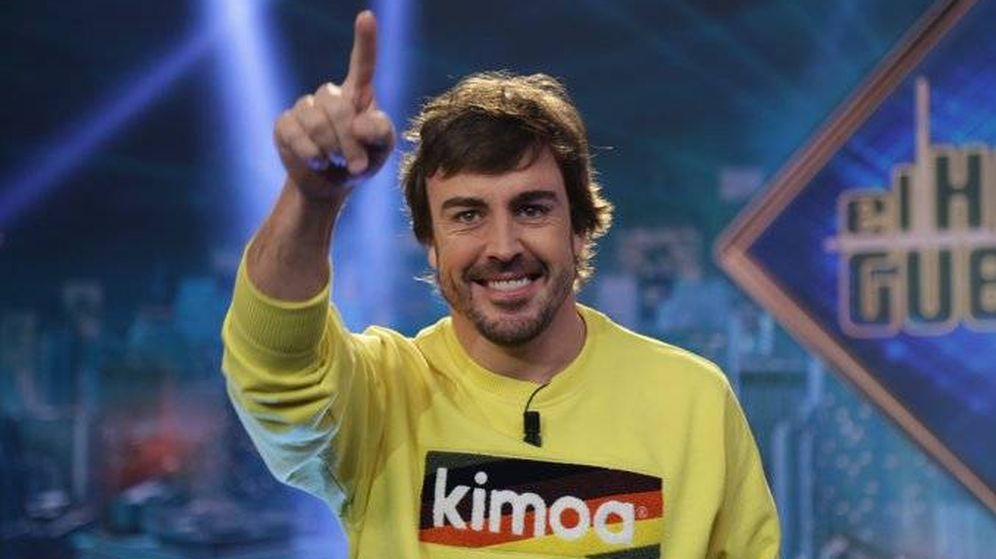 Foto: Fernando Alonso visitó este lunes el Hormiguero. (El Hormiguero)