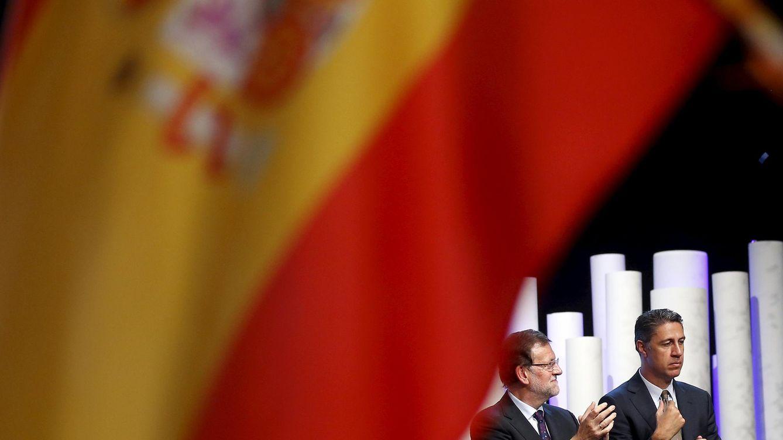Foto: Mariano Rajoy y Xavier García Albiol, anoche en Barcelona. (Reuters)