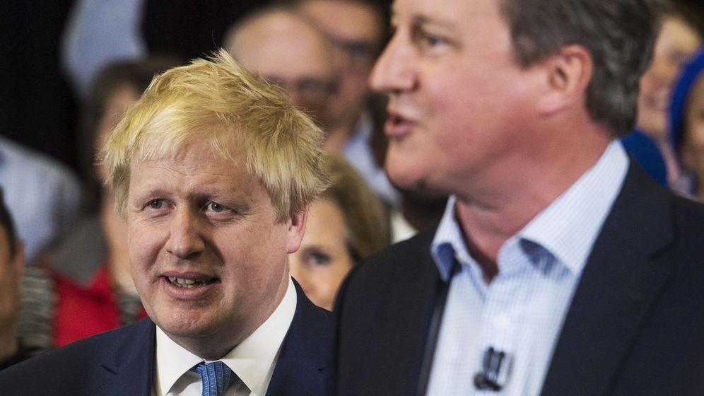 Foto: Boris Johnson y David Cameron, durante un acto en la campaña por la alcaldía de Londres, en mayo de 2016 (EFE)