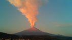 El volcán Popocatéptl sigue en erupción en México