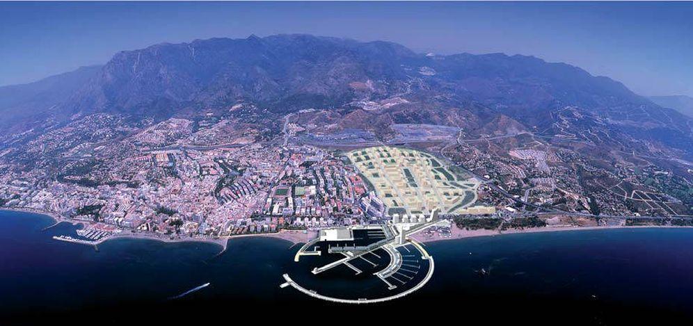 Foto: El nuevo Puerto de Marbella abriendo la ciudad al mar por el Sector Este de La Ermita. (Estudio Segui)