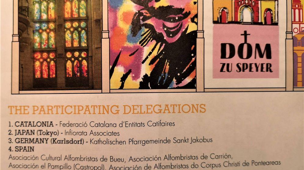 Foto: Folleto informativo del tapiz floral de Bruselas, evento cultural de gran prestigio, en el que aparecen las delegaciones que han participado. (EC)