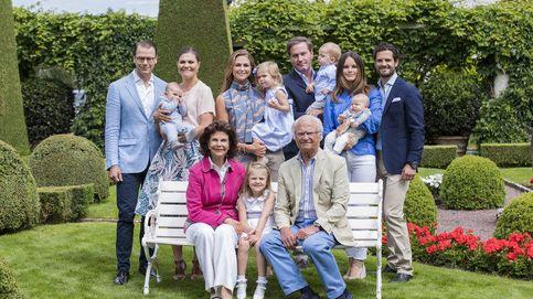 Posado de la familia real sueca