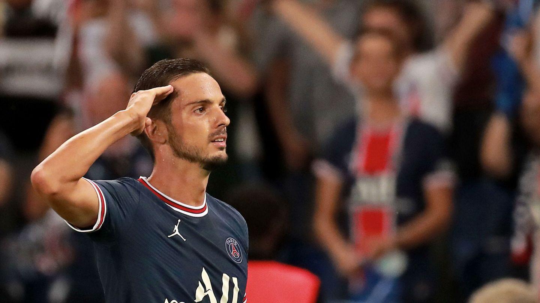 Pablo Sarabia celebra un gol. (Reuters)