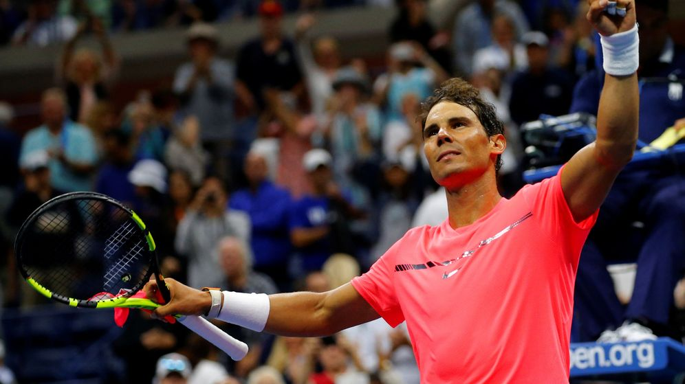Foto: Nadal celebra su victoria ante Lajovic. (Reuters)