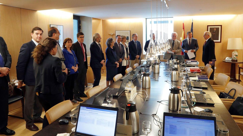 Reunión de la Junta Electoral Central en el Congreso.