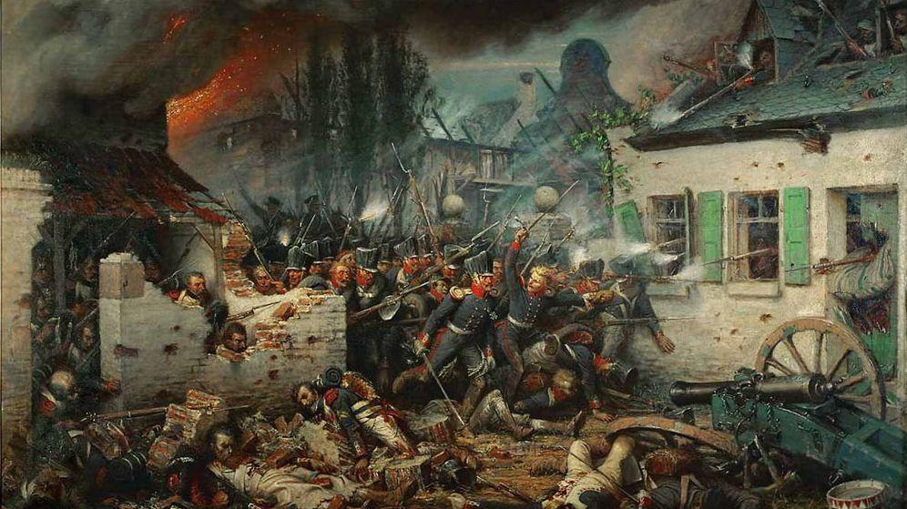Foto: Un cuadro de la batalla de Waterloo (C.C)