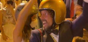 Post de La postboda de José Antonio León y Rocío Madrid: baile, motos y sándwich en albornoz