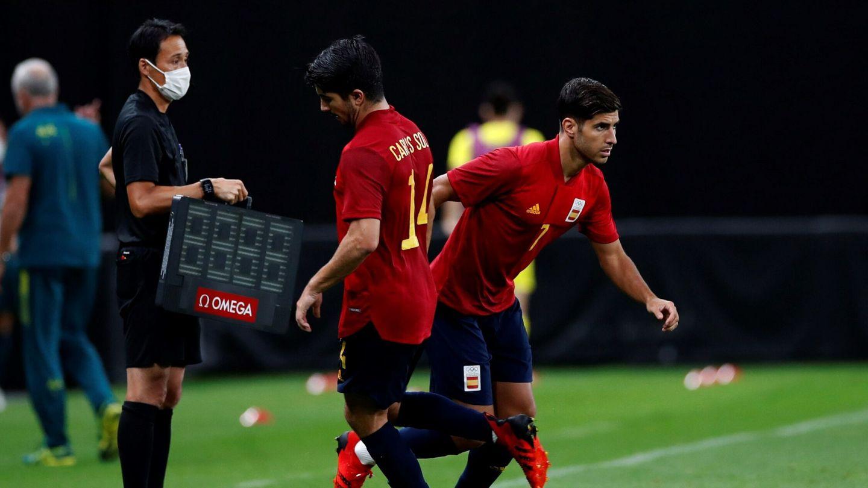 Marco Asensio tuvo un rol intermitente en la Selección olímpica. (Efe)
